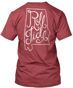 Scripty Roll Tide State Comfort Colors Tee
