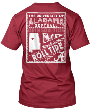 Alabama Softball Block Verbiage Tee