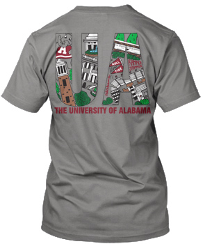 UA filled Campus Scene Tee