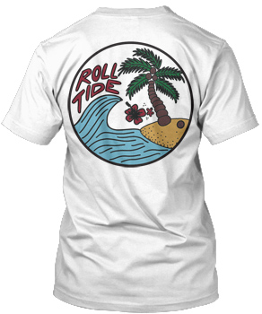 Roll Tide Wave Hawaiian Comfort Colors Tee