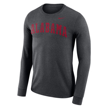 ALABAMA Dri-FIT Cotton Wordmark LS Tee
